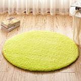 HOMEE Circular Rug Basket Lift Children Bedroom Bed Living Room Study Desk Anti-Slip Pad,The Results Of The Green,1.4 Dia.