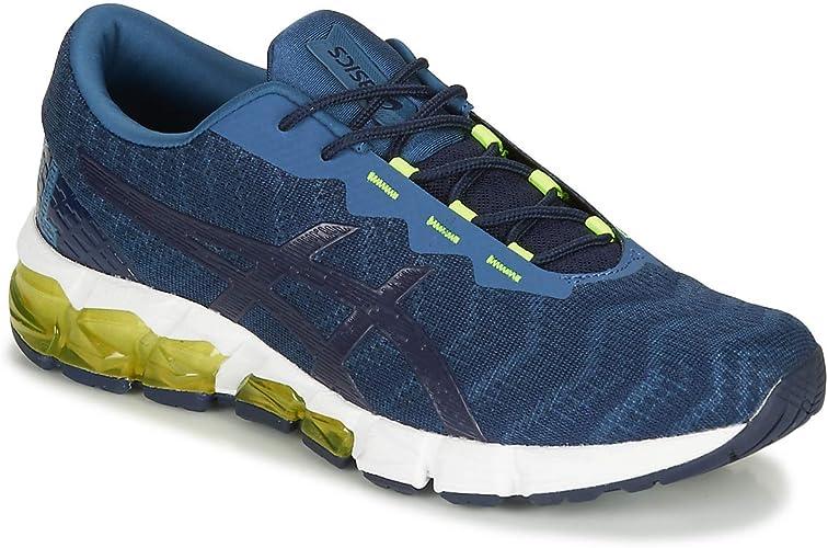 Asics Quantum 180 5 Zapatilla para Correr en Carretera o Camino de Tierra Ligero con Soporte Neutral para Hombre Azul Amarillo: Amazon.es: Deportes y aire libre
