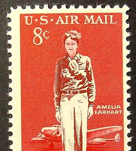 Amelia Earhart USA Aircraft -Framed Postage Stamp Art 2499 (Stamp Framed)