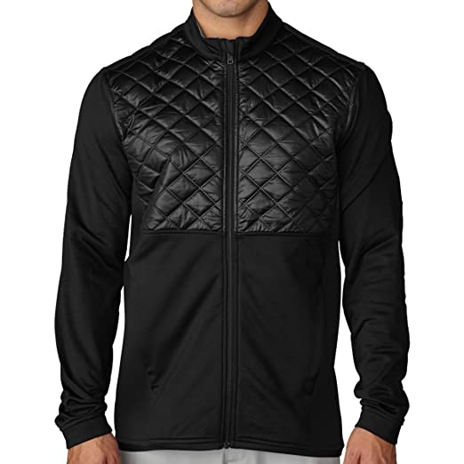 8a1a45f29 Amazon.com : adidas Climaheat Prime Quilted Full Zip Golf Jacket 2016 Black  X-Large : Clothing