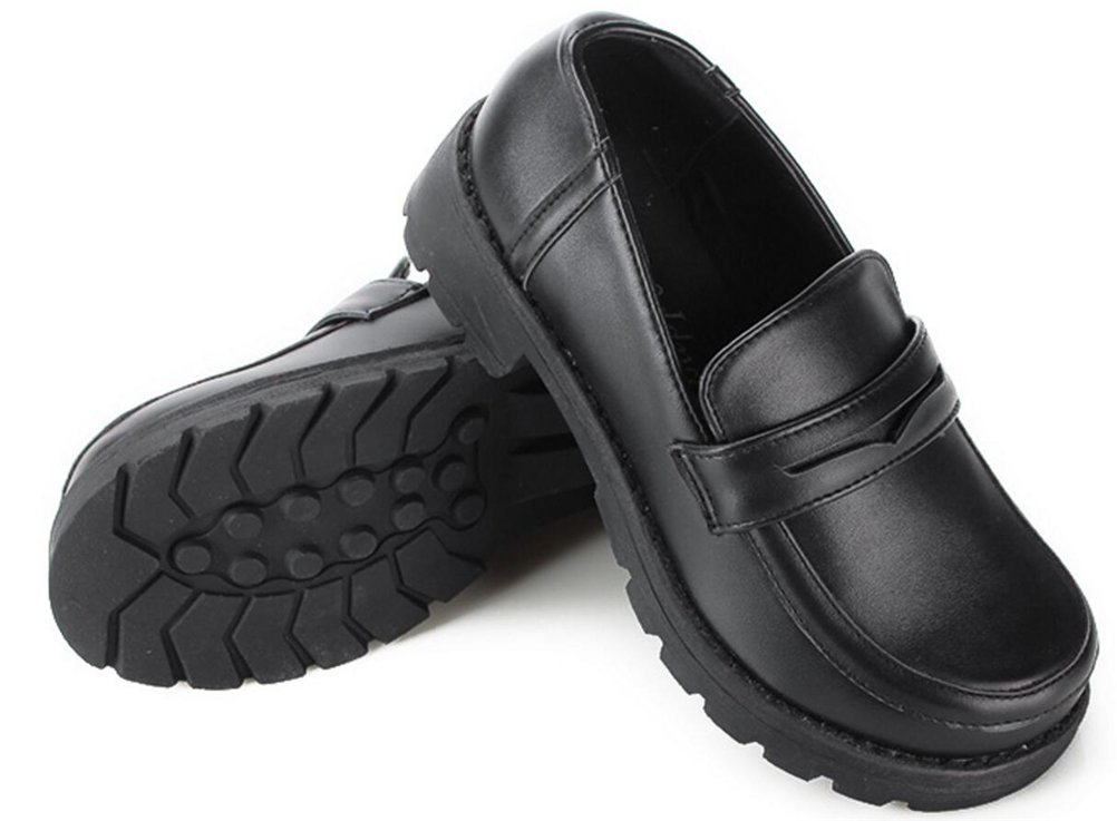 Ace Women's Girl's Lolita Low Top Japanese Students Maid Uniform Dress Shoes (8, Black) by ACE SHOCK (Image #3)