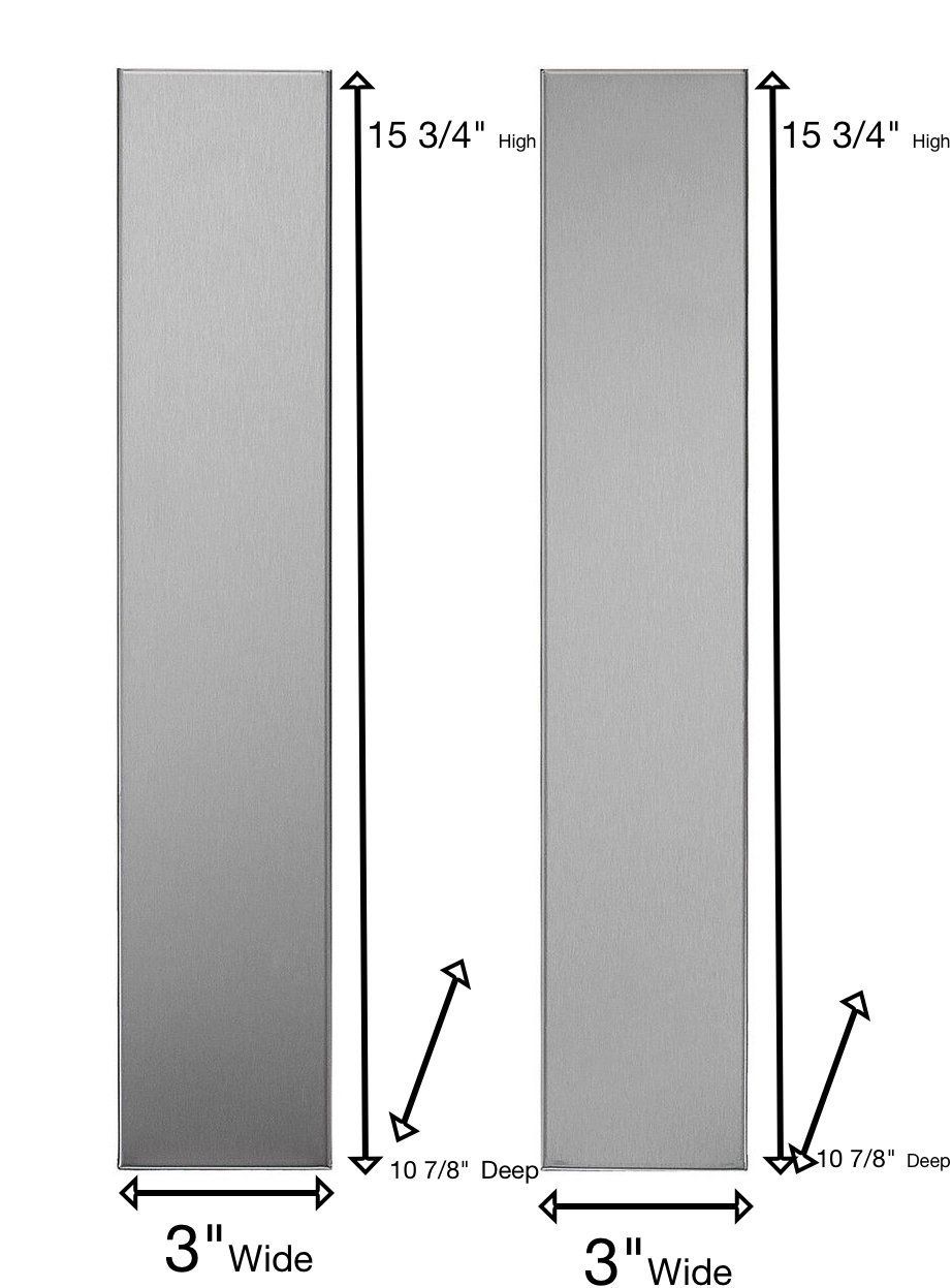 "Universal Stainless Steel Over the Range L Shaped Microwave Fill Filler Kit - Fills a 36"" Wide by 15-3/4"" Tall Spot MF3-SS"