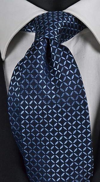 Corbata hombre fondo azul con micro fantasía celeste pura seda ...