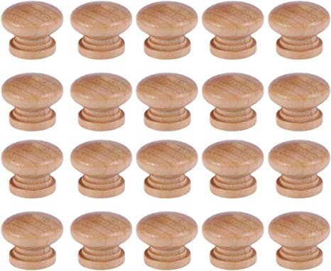 Knobs Building Supplies DOITOOL 30PCS Wooden Cabinet Knobs Round ...