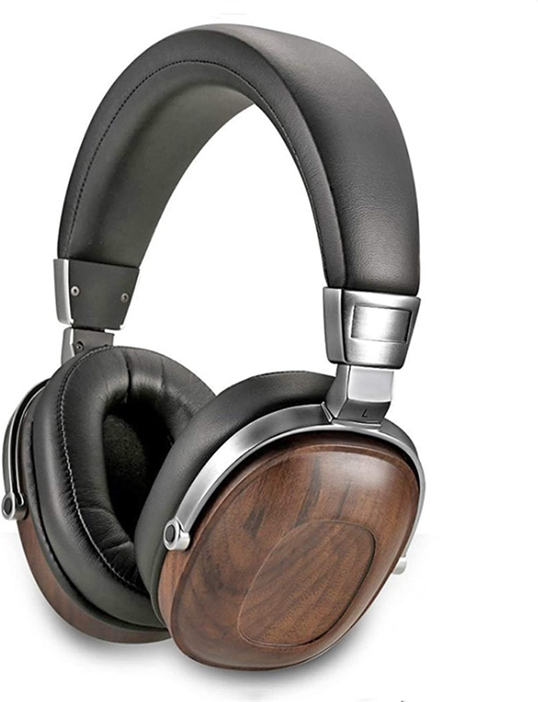 CHAONONG 헤드폰 HIFI 스테레오 이동 코일 나무 헤드폰 이어폰 DJ 모니터 헤드폰 녹음 스튜디오 오디오 소음 감소 헤드폰