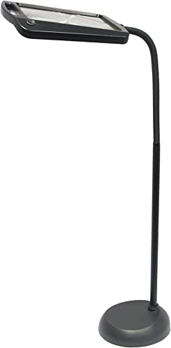daylight24 402039-04 Full Page 8 x 10 Inch Magnifier LED Illuminated Floor Lamp