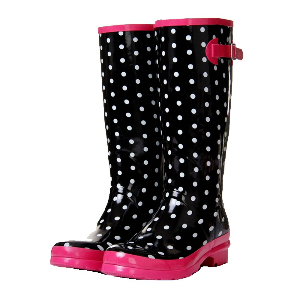 NAN Hoher Regen der Art- Art- Art- und Weisedamen High-Endfrauen beschuht Regenstiefel der hohen Frauen ( Farbe   Schwarz , größe   EU38 UK5.5 CN38 ) 70592c