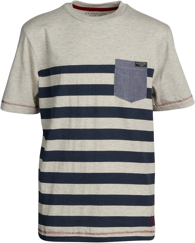 U.S Polo Assn Boys Short Sleeve Woven Henley T-Shirt Set