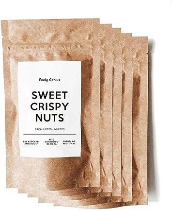 BODY GENIUS Frutos Secos Caramelizados Sin Azúcar. Pack 5x90g ...