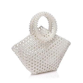 Amazon.com: Vilegluck Pearl Tote Handbag for Women ...