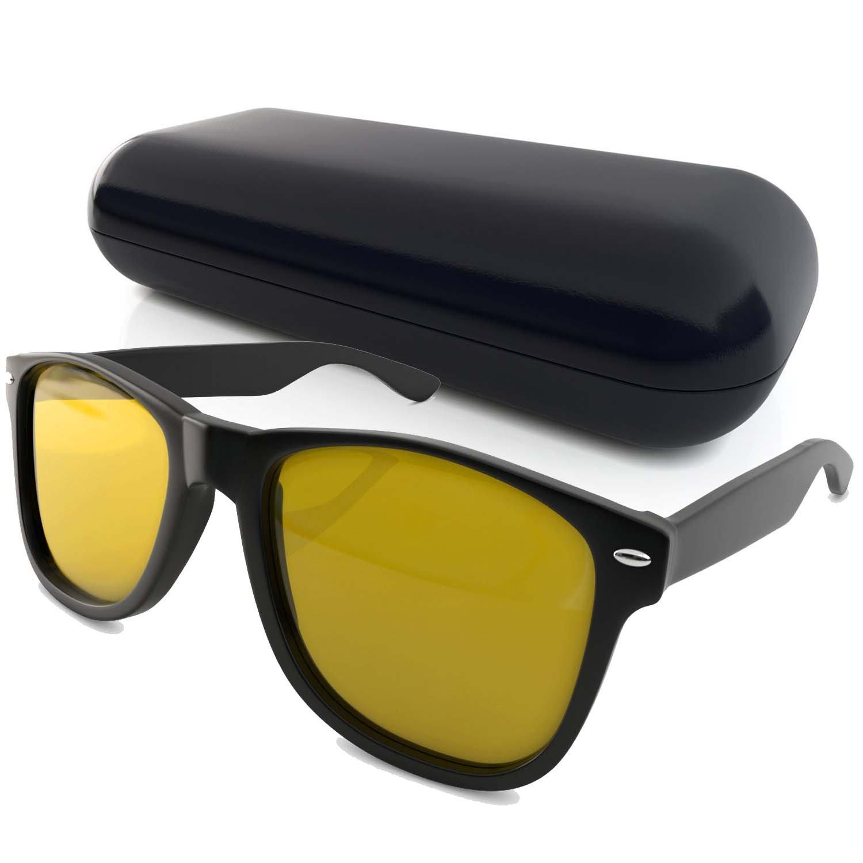 wayfarer sunglasses and yellow tinted puter glasses