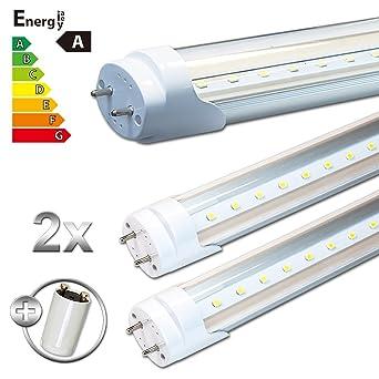 Ledvero 2x Smd Led Rohre Tube Leuchtstoffrohre T8 G13 Transparente