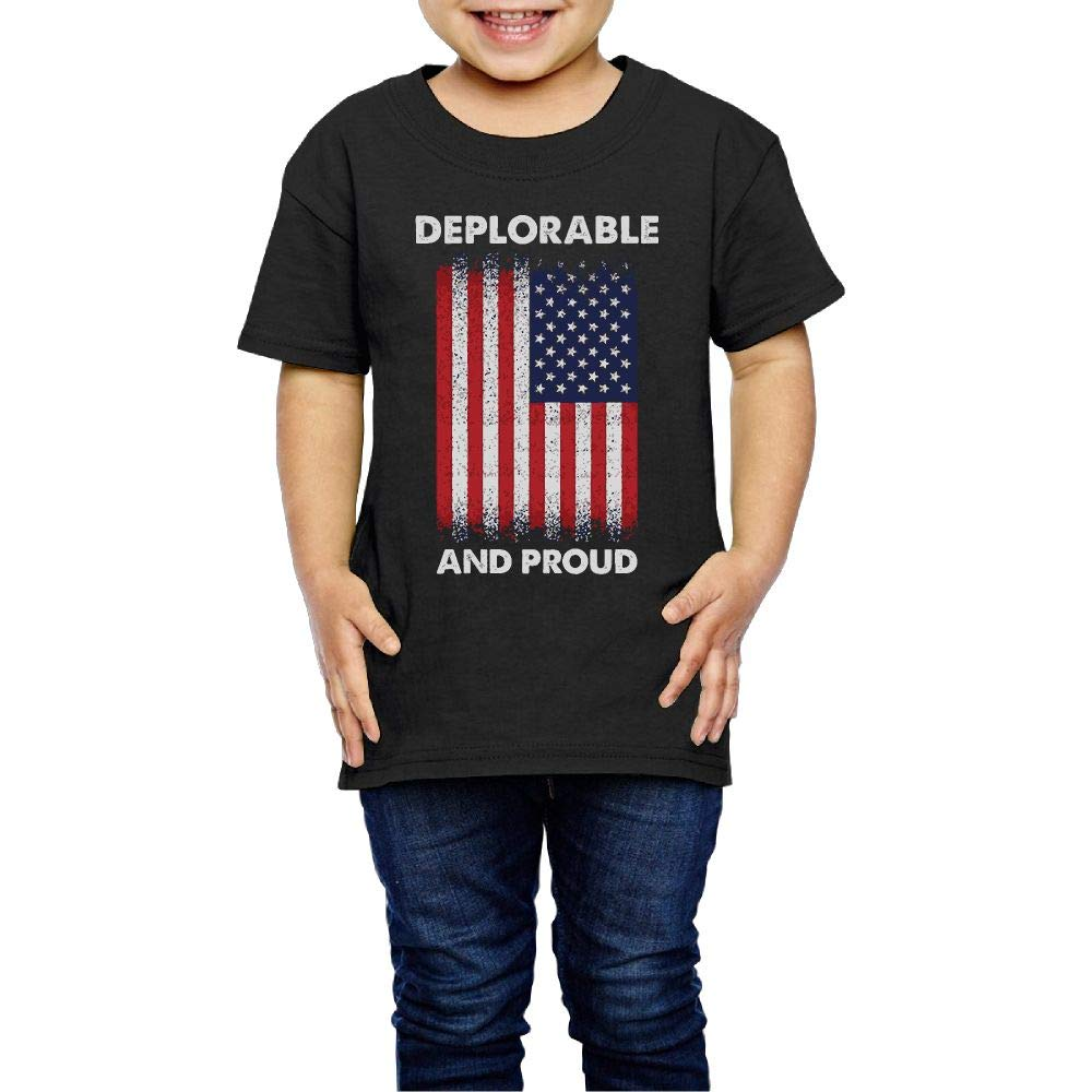 XYMYFC-E Deplorable and Proud 2-6 Years Old Child Short-Sleeved Tshirts