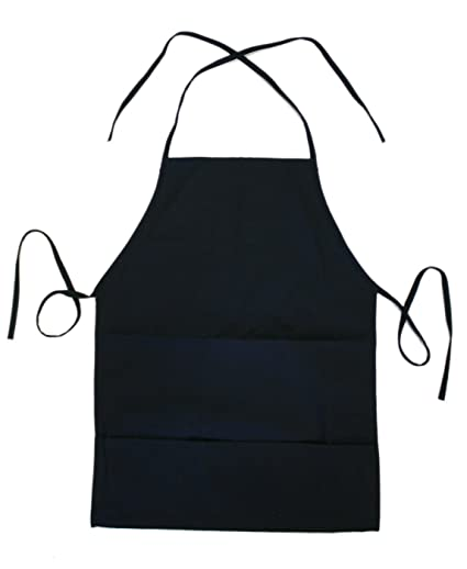 Plain Navy Blue Apron   Long Painting And Food Apron