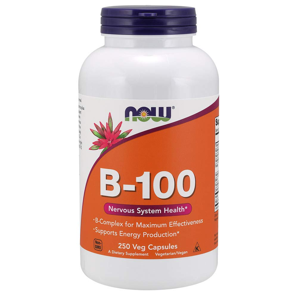 Now Supplements, Vitamin B-100, 250 Veg Capsules