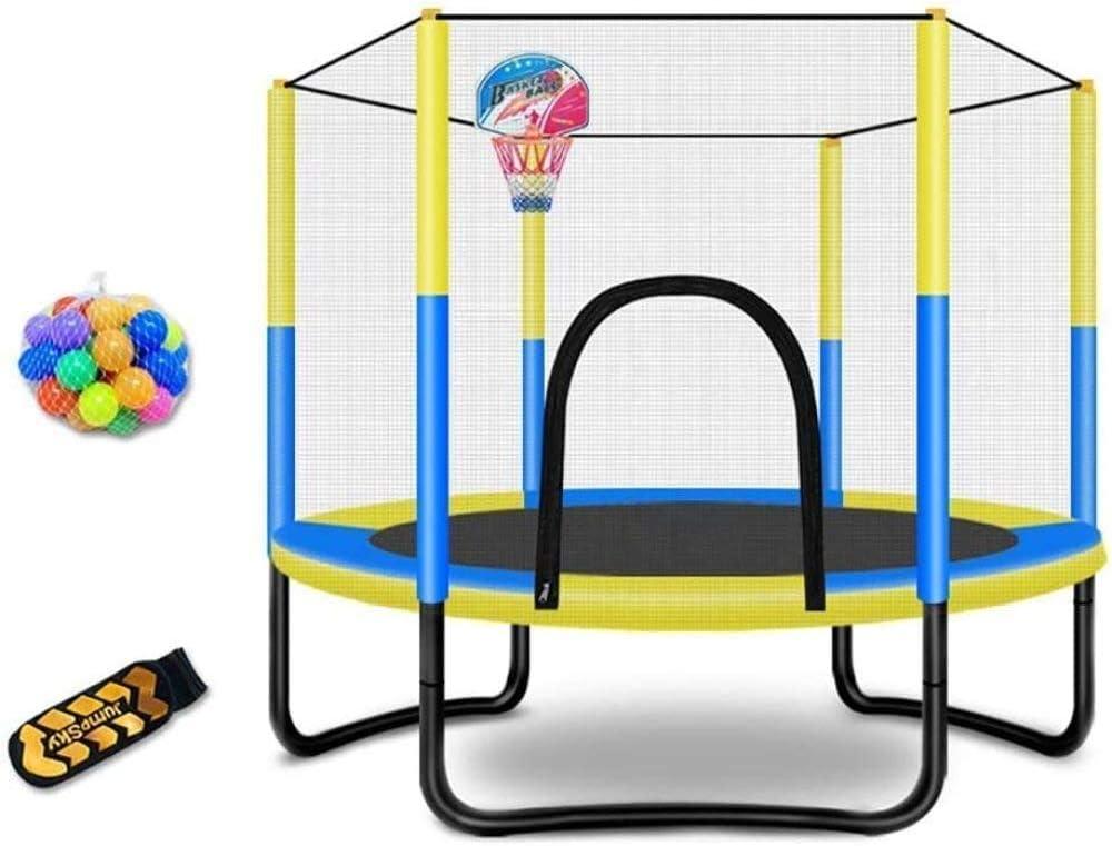 YIHGJJYP Mini Juego de Cama elástica con Acolchado Carcasa de Seguridad para jardín Interior o Exterior para niños Equipo de Gimnasia A.