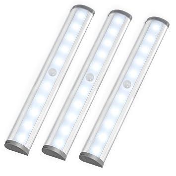 LE LED Closet Light, Motion Sensing Under Cabinet Lighting,10 Led Wireless  Stick