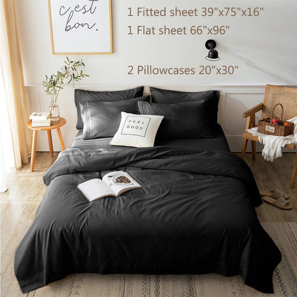 LBRO12M Bed Sheets Set Twin Size 12 Piece 12 Inches Deep Pocket 12 Thread  Count 12 Microfiber Sheet,Bedding Super Soft Comforterble Hypoallergenic  ...