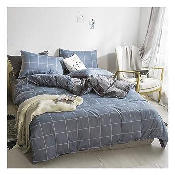 CLEAVE WAVES Blau Grau Reversible Bettbezug/Gitter Geometrische  Bettwäsche Sets / 100% Baumwolle