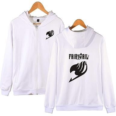 BWWX Harajuku Fairy Tail Print Hooddie Sweatshirt Men Women Zipper Hoodies at Amazon Womens Clothing store: