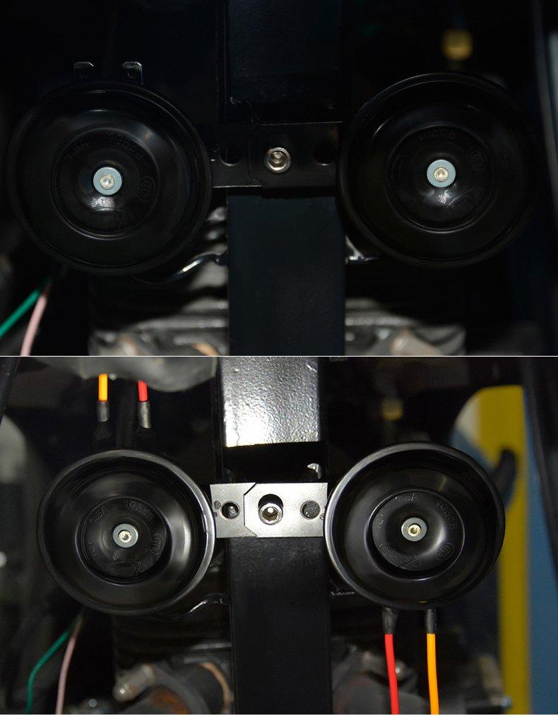 Black Etbotu Motorbike Vehicle Car Metal DC 12V 1.2A 105dB Warn Loud Horn Trumpet