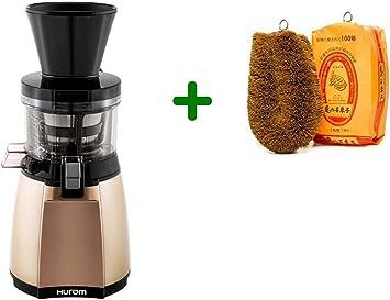 Extractor de zumos Hurom HT IBE14 Slow Juicer + Cepillo para verduras (Marfil): Amazon.es: Hogar