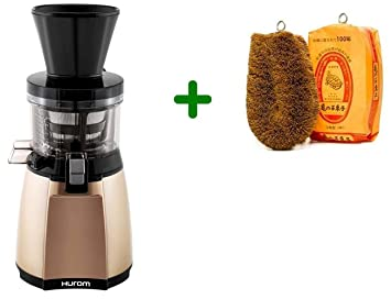 Extractor de zumos Hurom HT IBE14 Slow Juicer + Cepillo para verduras (Marfil)