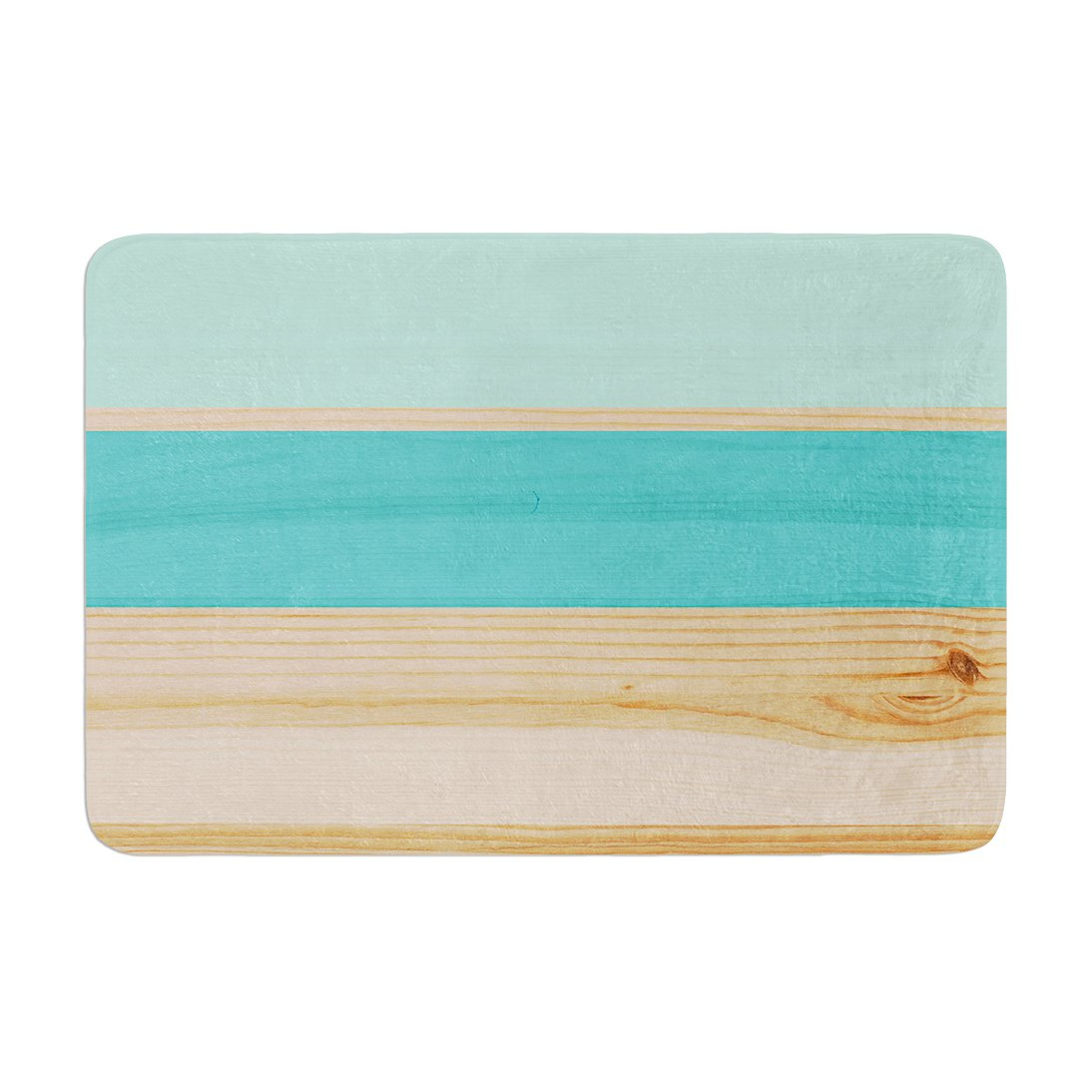 17 by 24 Blue Green Teal Wood Memory Foam Bath Mat Kess InHouse Kess Original Spring Swatch