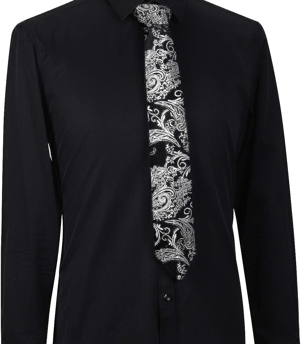 Allthemen Cravate Homme Dor/é en Marquage /à Chaud Bussiness Style daffires El/égant Mariage C/ér/émonie Mode
