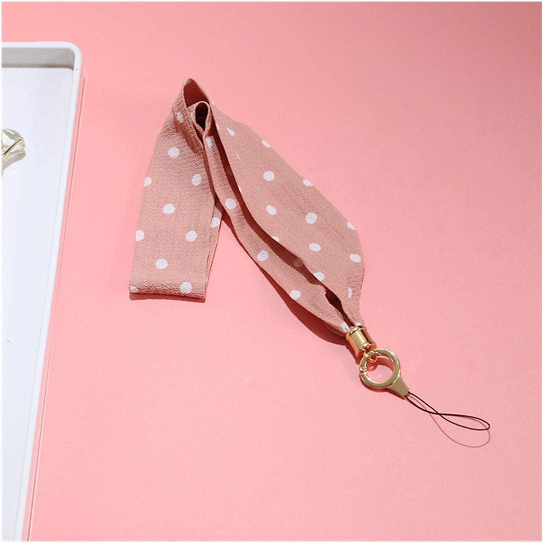 Cute Phone Lanyard for Keys Neck Keychain Lanyard Id Badge Key PhoStrap Card Correa Llaves De para Cuello Tarjeta Rope,Red//Pink