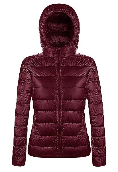 Amazon.com: Aixy - Chaqueta de plumón con capucha para mujer ...