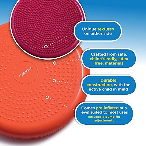 bintiva Inflated Stability Wobble Cushion, Including Free Pump/Exercise Fitness Core Balance Disc by bintiva (Image #2)