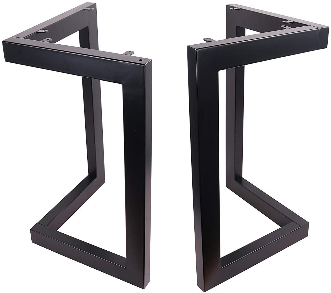 Office Table Legs,Computer Desk Legs,Industrial kitchen table legs,Black 4 x 28  Angled Steel Dining Table Legs Steel coffee table legs