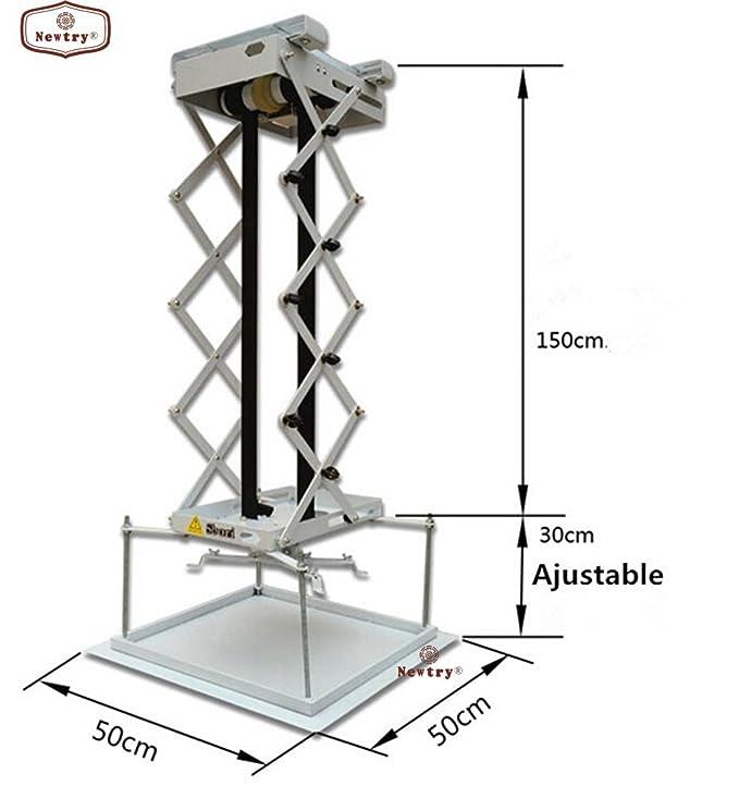 Newtry 1,5 m proyector Soporte para Motorizado eléctrico de Techo ...