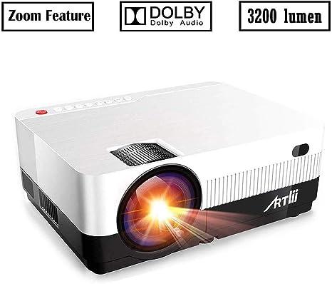 Amazon.com: Proyector portátil Artlii 3200 lúmenes HD ...