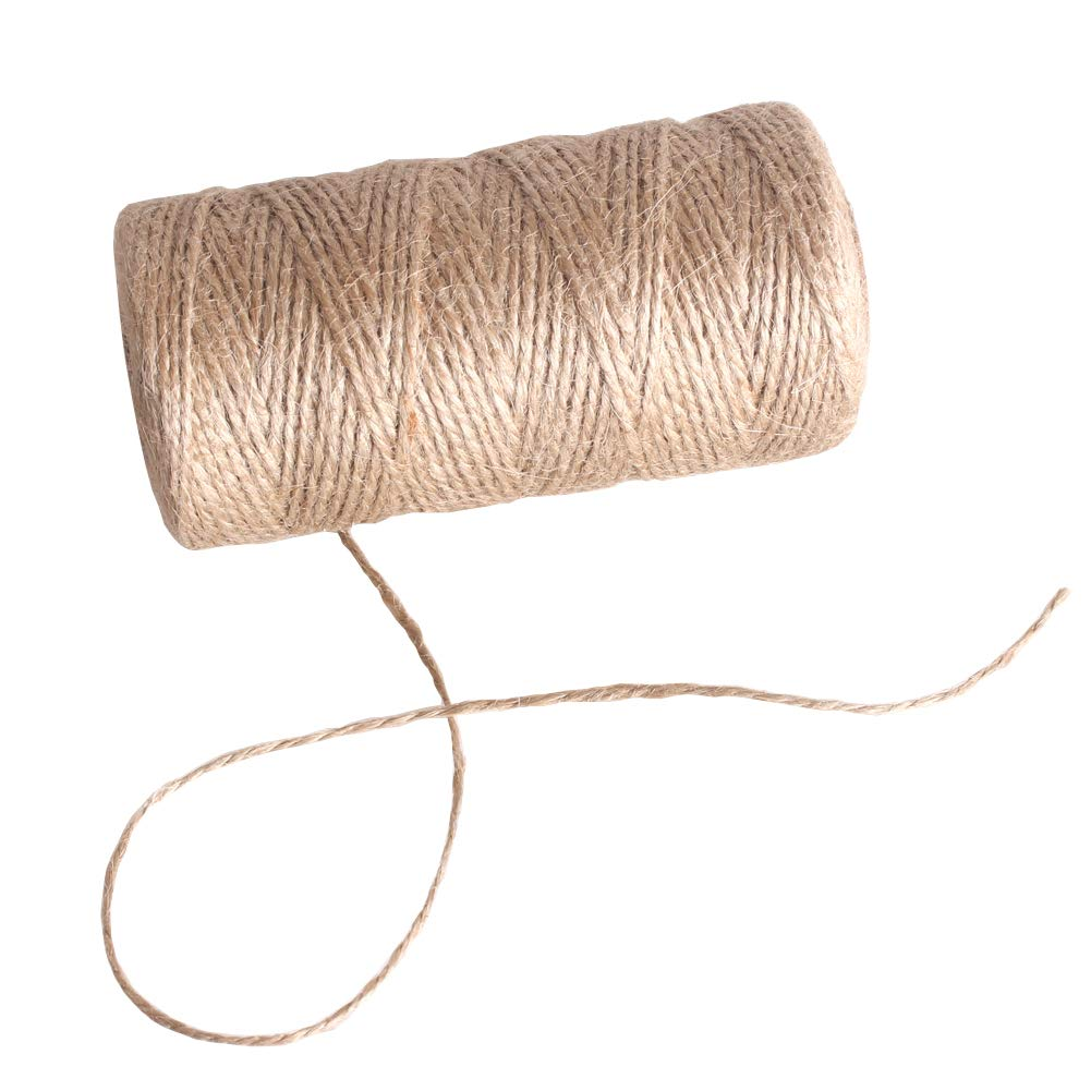 Total 1200 Feet Zicome Natural Jute Twine for Crafts Decoration Gift Wrapping Gardening Applications Rolls of 4
