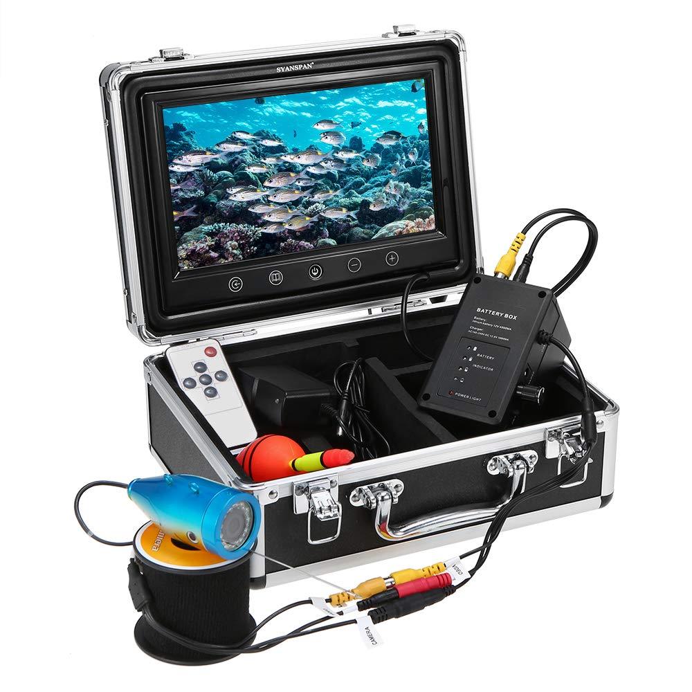 Lixada Portá til de 7inch Monitor de Pulgadas 1000TVL Equipo de Cá mara de Pesca Submarina Impermeable 24PCS LED Infrarrojos Buscador de Peces (15M)