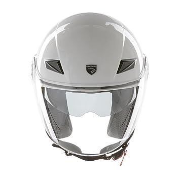 PANTHERA casco de moto half jet Paris blanco brillante talla XL