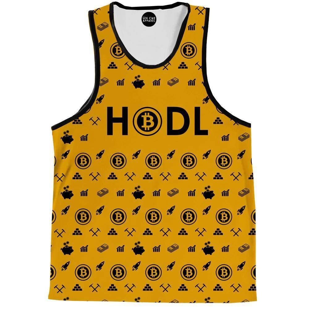 On Cue Apparel Bitcoin HODL Yellow Tank Top