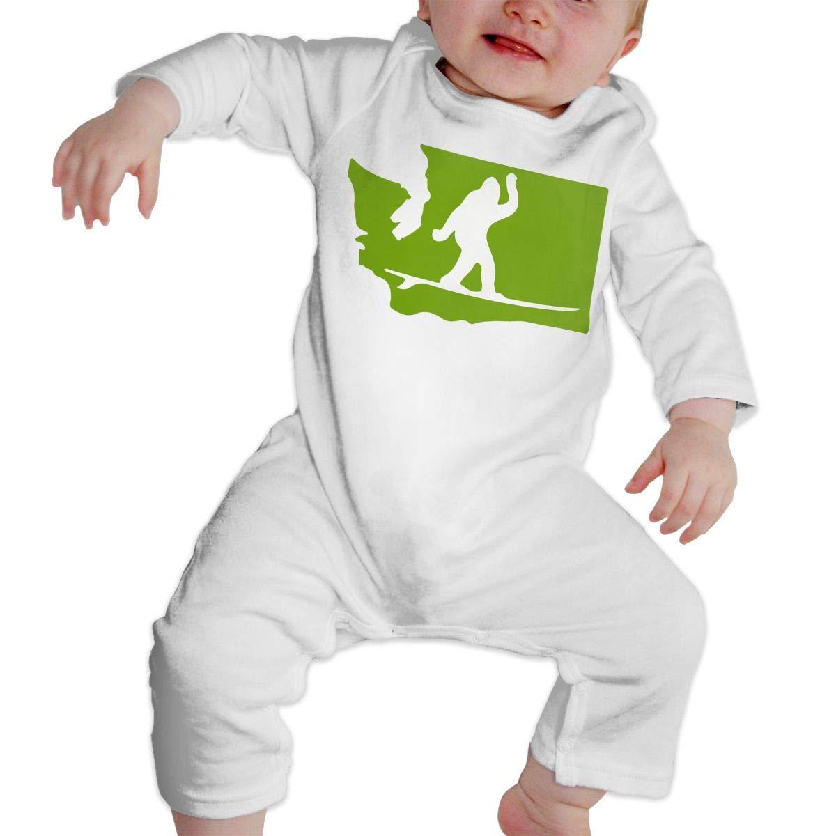 LBJQ8 Washington State Bigfoot Surf Newborn Baby Girl Infant Soft /& Breathable Bodysuit Romper Jumpsuit