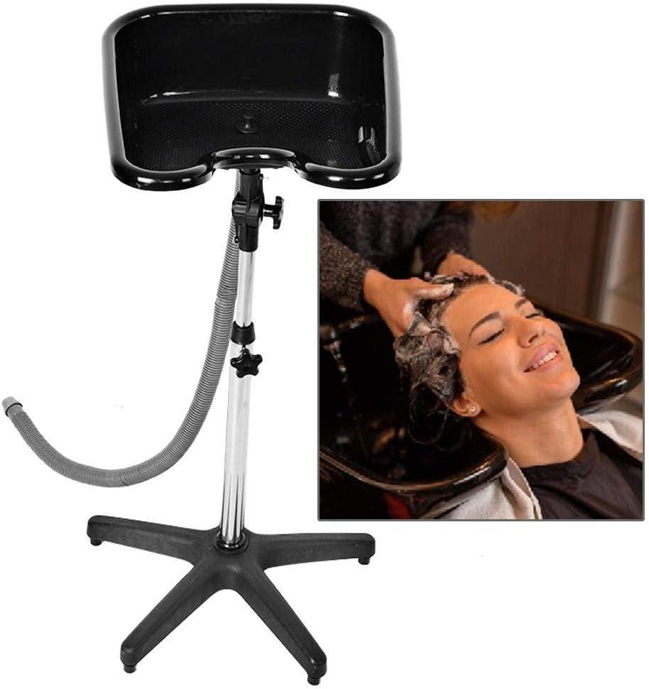 Cuenco de champú portátil Spa para el pelo, lavabo de altura ajustable con desagüe para el pelo, lavabo de belleza, equipo de salón de belleza (# 220)