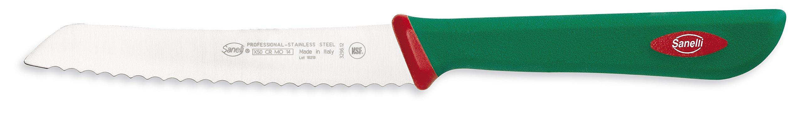 Sanelli Premana Professional Tomato Knife, 12cm/4.72'', Green