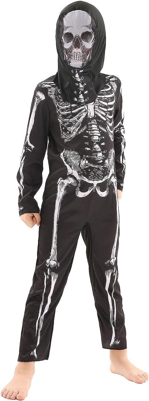 Forever Young UK Traje de Esqueleto para niños Mono Unisex Traje de Disfraces de Halloween (9-10 años)