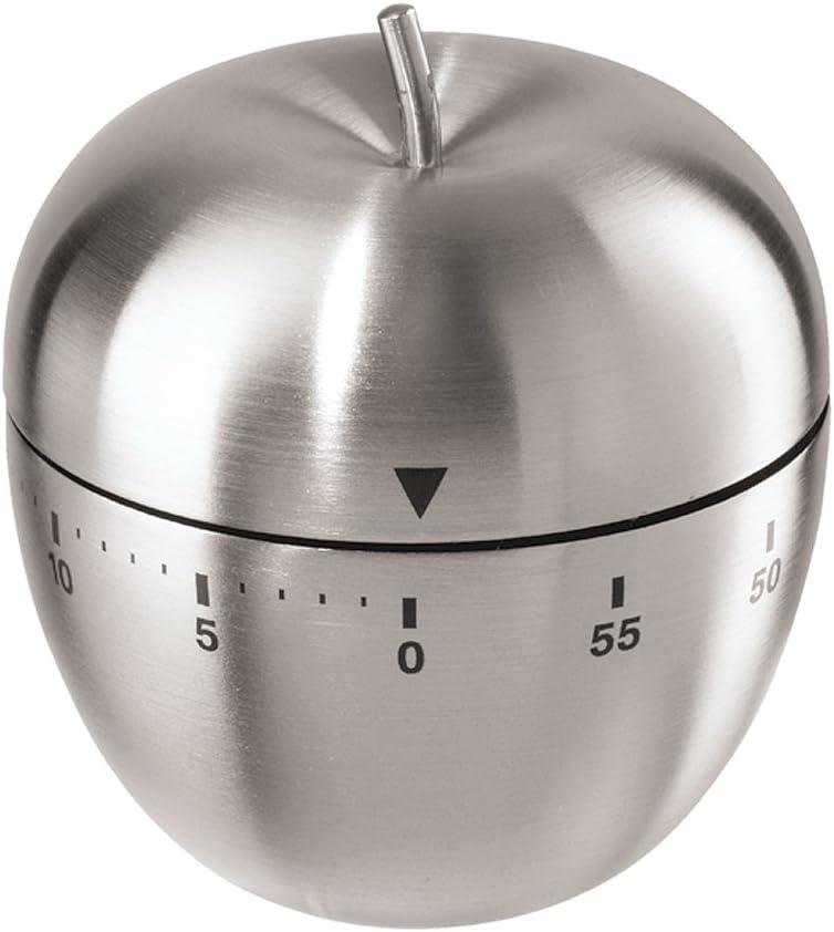 Oggi Apple Stainless Steel 60-Minute Kitchen Timer