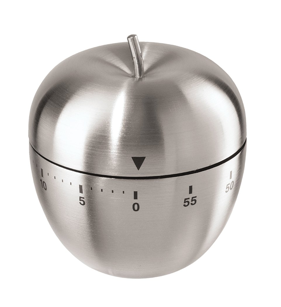 Oggi Apple Stainless Steel 60-Minute Kitchen Timer 7258