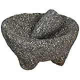 IMUSA MEXI-2008M Lava Rock Molcajete, Black