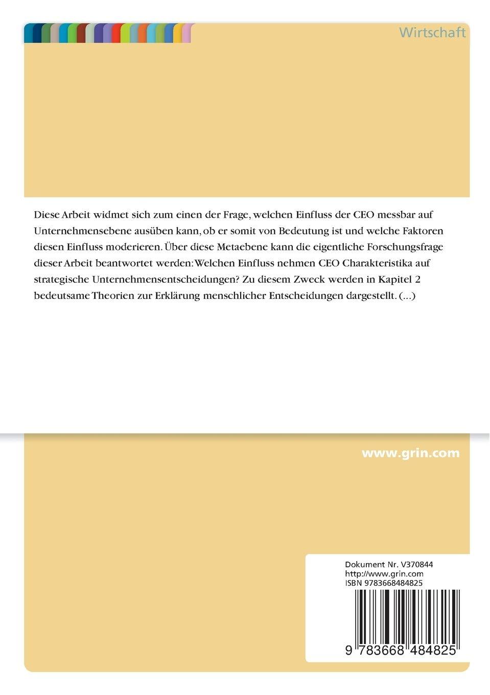 CEO Charakteristika und Strategie. Ein kritischer Überblick zum ...