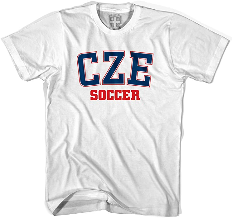 Czech Republic CZE Soccer Country Code T-shirt, White, Women Small |  Amazon.com