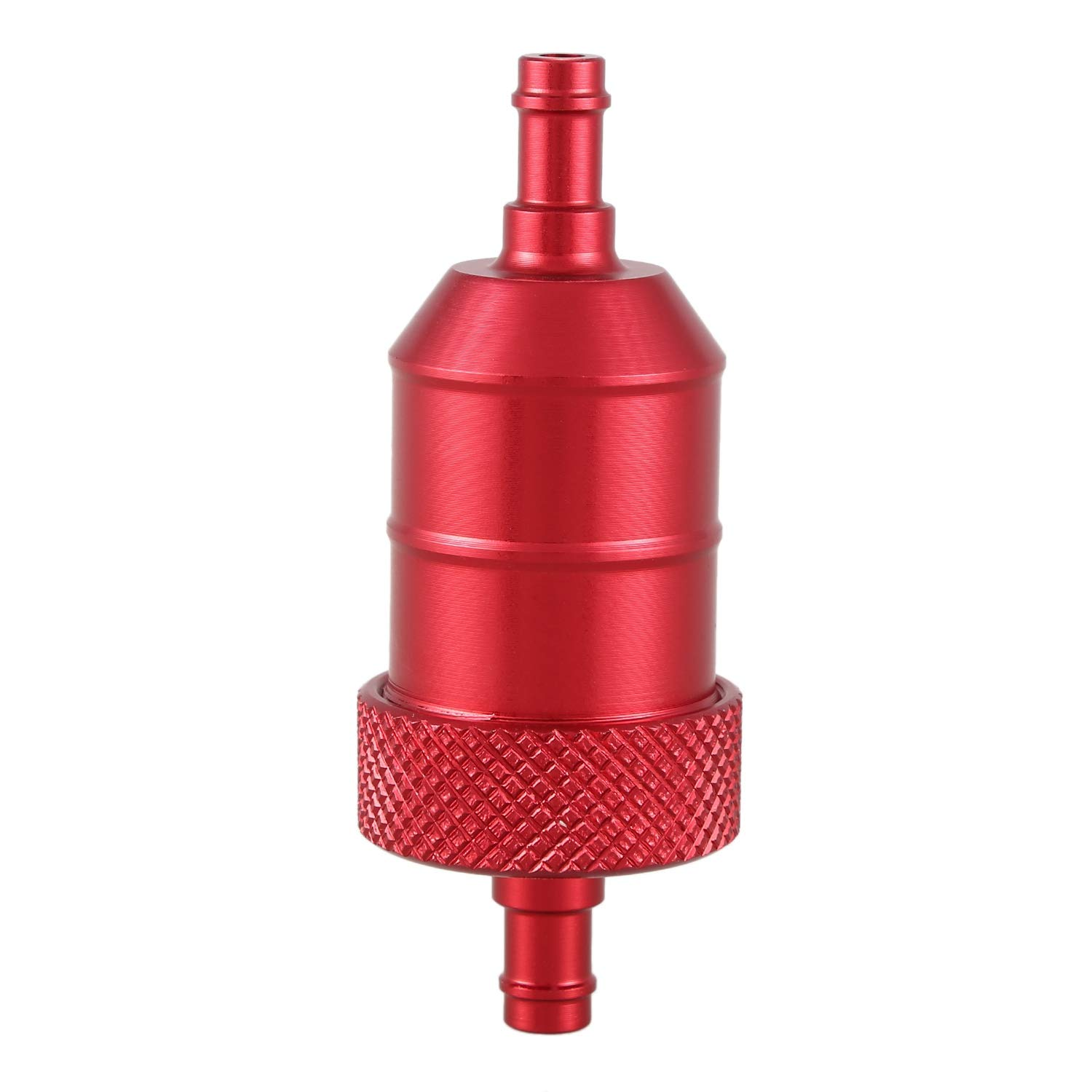 Red WOVELOT UNIVERSAL 6MM 1//4 MOTORCYCLE MOTORBIKE SCOOTER QUAD PIT BIKE CNC FUEL FILTER