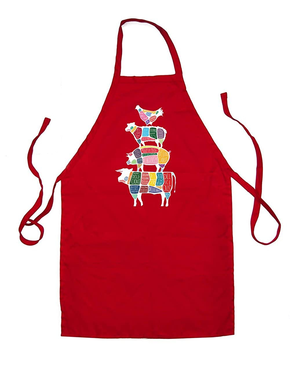 Meat Stack Diagram - Unisex Fit Adult Apron - 8 Colours US350984800